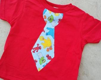 Elmo, Sesame Street, Tie Shirt.