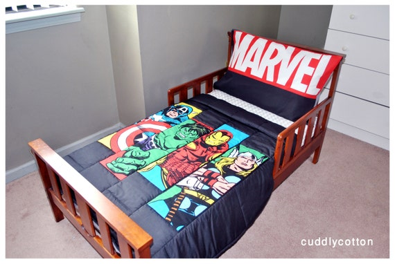 marvel toddler bedding by cuddlycotton on etsy