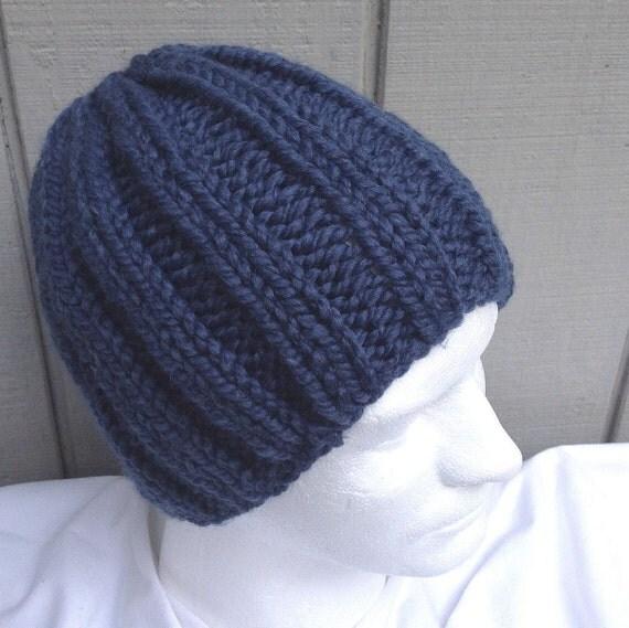 Chunky knit beanie Super chunky hat Mens wool by LurayKnitwear
