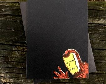 Vintage Marvel Avengers - Iron Man Greeting Card (Blank)