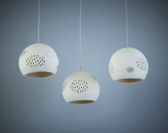 Candelier lighting. Pendant light. Ceiling light. Kitchen lighting.Hanging lampshade.Made to order