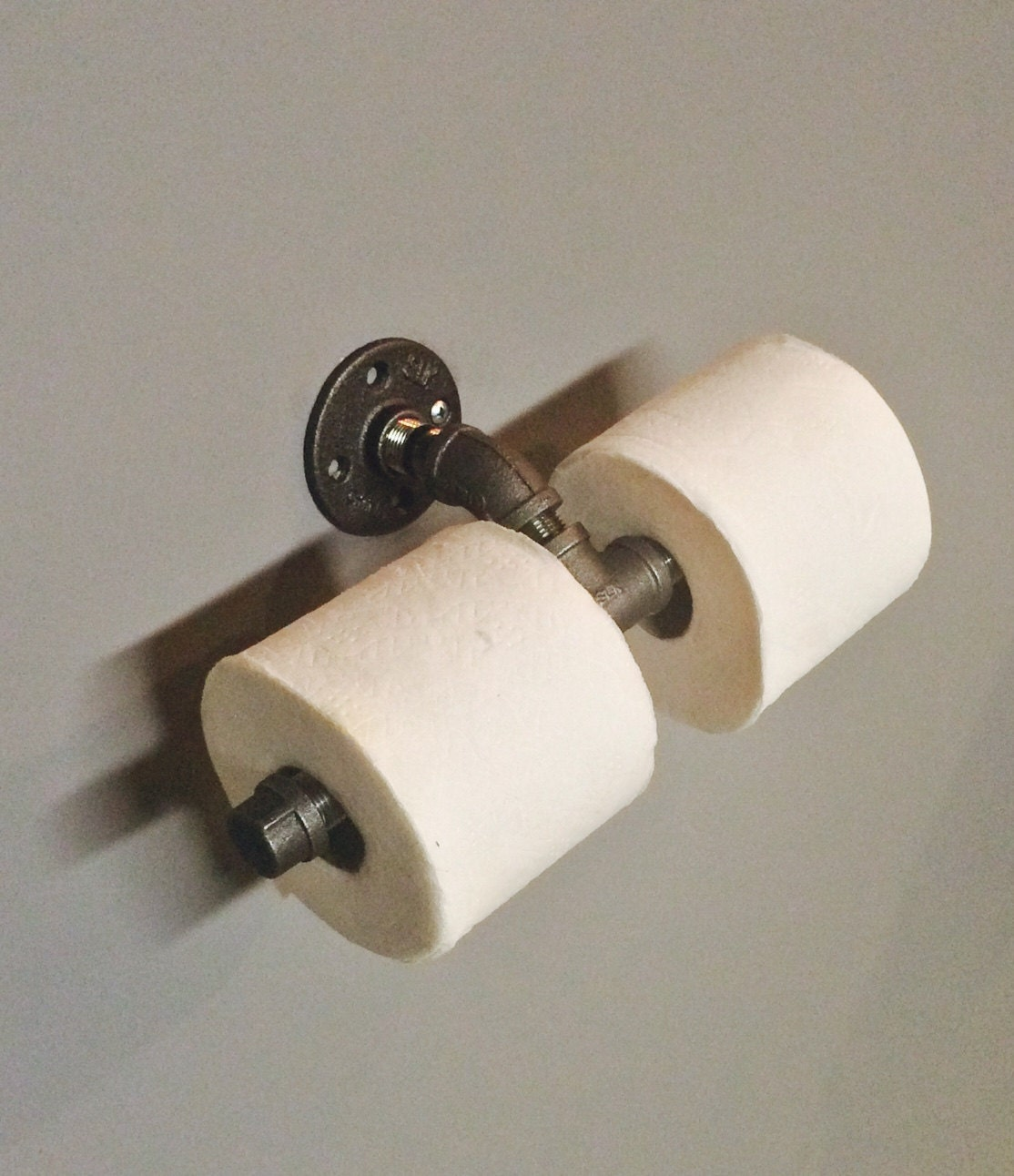 Industrial Double Toilet Paper Holder By Patscreativecrafts