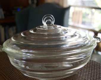 Glassbake # 55 Covered Casserole Dish