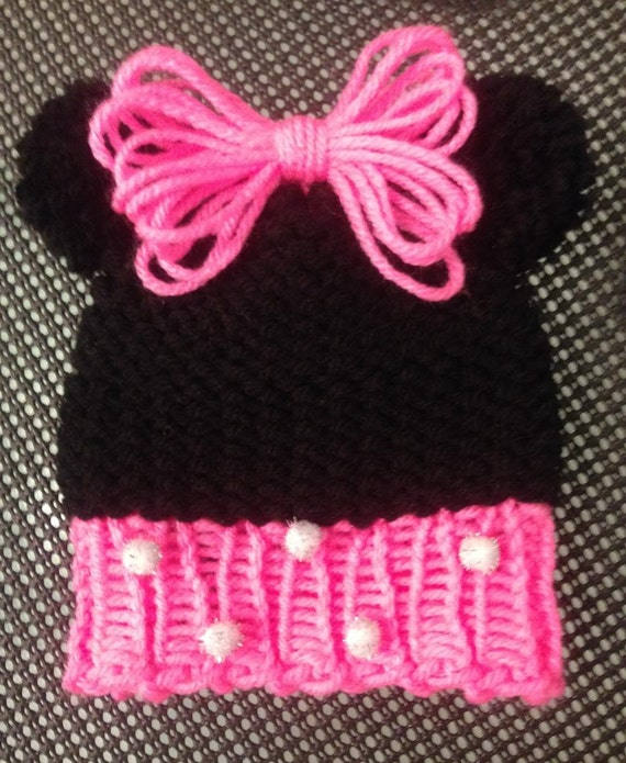Loom Knitting For Kids : Loom knit mouse ears kids hat pattern with video by loomahat