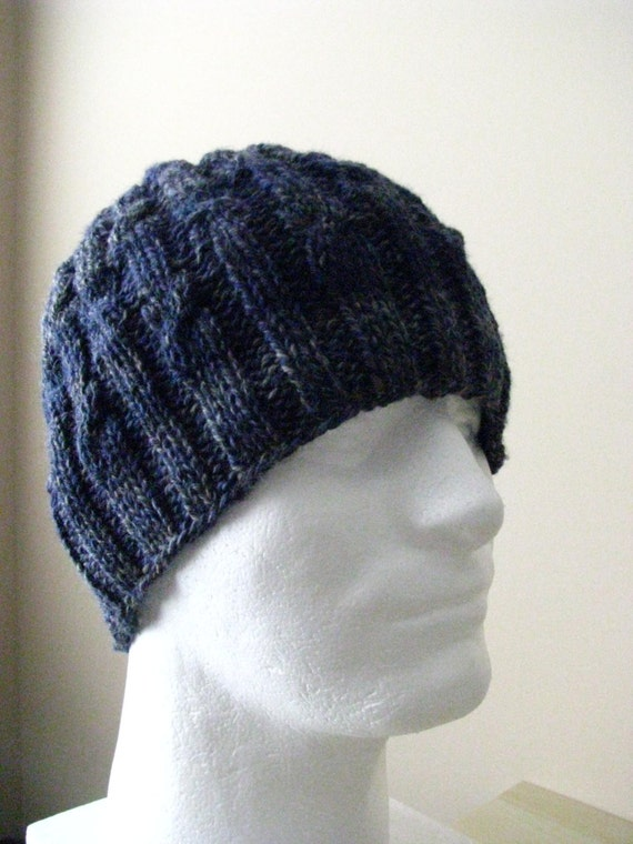 Men S Knit Hat Sock Yarn Hat Knitting Pattern Cosmo For