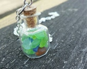 vial necklace, Beach glass necklace, miniature collection, tiny bottle necklace, genuine beach glass, ohio necklace, lake erie beach glass
