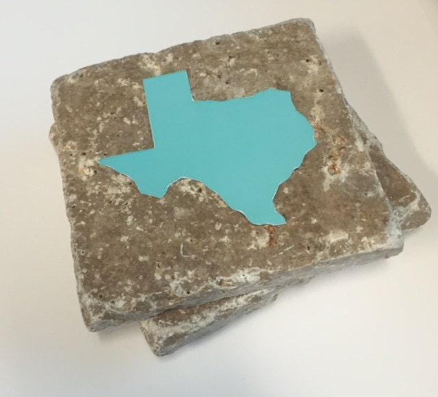 Texas Coasters Stone Coasters Drink Coasters Set By Nicolemarilyn
