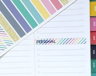 Divider stickers for Simplified Planner