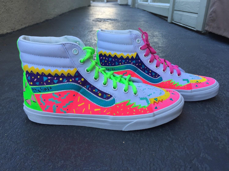 buy high top vans rainbow