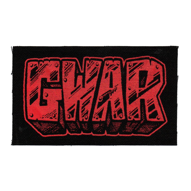 GWAR Patch Rock Metal Punk Oderus Urungus Red Black Screen