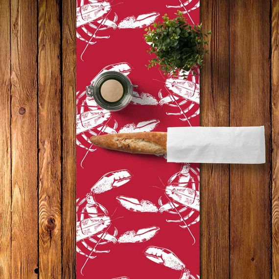 Red Lobster Table Runner Red Lobster Decor Red Lobster