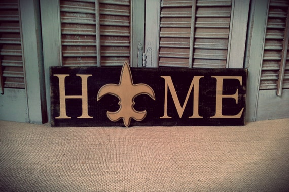 New Orleans Saints Man Cave Decor : New orleans saints home sign louisiana nfl inspired