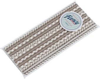 Paper Drinking Straws Grey Variety Collection - 25 Pack - Free UK Delivery