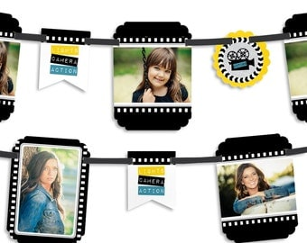 Movie – Film in the Making - Graduation Party Photo Garland Banner - Custom Grad Party Decorations