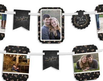 Best Day Ever - Wedding or Bridal Shower Photo Garland Banner - Custom Party Decorations