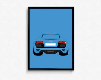 Audi R8 A3 Print
