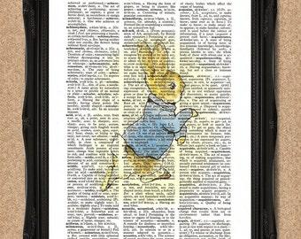 Peter Rabbit Print Beatrix Potter Art for Nursery or Nostalgia A119