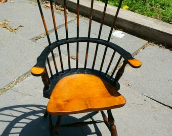 Vintage Antique Wood Windsor Doll Chair