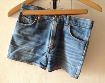 short pants, vintage jeans, jeans, shorts, blue pants, fashion, girl, high-waisted, high-waisted pants, retro