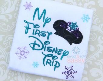 My First Disney Trip applique shirt - Frozen inspired