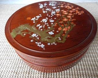 Asian Lacquer Stacking Box!