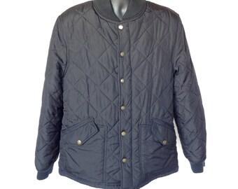 Vintage 90's Converse One Star Snap Button Jacket / Black / Size Medium M