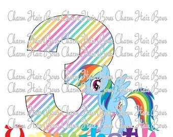 My little pony iron, rainbow dash iron on