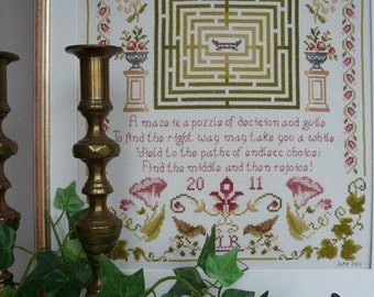 Cross Stitch CHART ONLY: Puzzle Maze Beautiful Cross Stitch By Maggie Gee Needlework