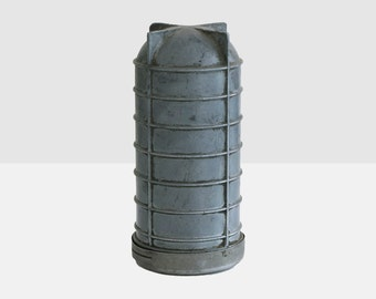 metal container, silo container, mechanic grease box, mystery container, industrial sculpture, industrial container, salvage box