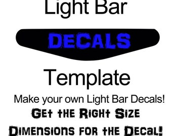 Dual Shock 4 Lightbar Decal Template Download - SVG and SCUT3