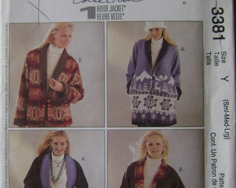 OUT of PRINT McCall's Pattern 3381 Misses' /Miss Petite Reversible Jacket in Two Lengths