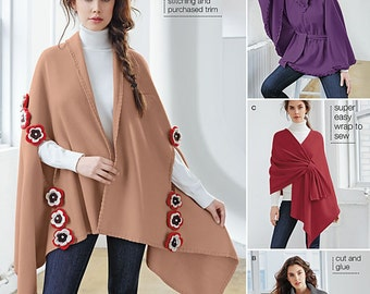 Simplicity Pattern 1098 Misses No Sew Poncho