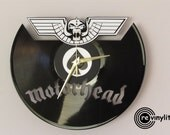Motorhead clock, Wall clock, Lemmy, Lemmy Kilmister,snaggletooth, motorhead, rock n roll decor, vinyl record clock, mancave decor