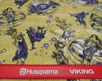 ASTROLOGICAL signs VIRGO FABRIC by fabriquilt by the yard free shipping
