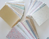 Handmade Recycled Paper, 40 sheet Scrap, Craft Pack, Collage, Assemblage, Art, Scrapbooking, Journalling, notes, memos, mixed paper pack