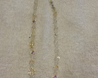 Vintage Graduated Crystal Necklace