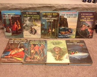 Hardy Boys Lot of 9 Hardcover Books from 1970s