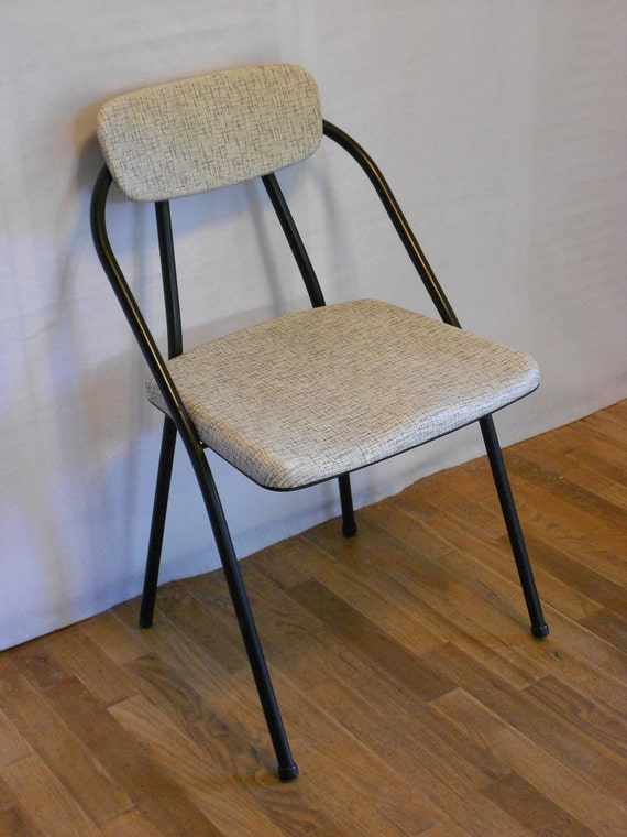 Black Folding Chair Cool Vintage Style with Black & by SkieShop