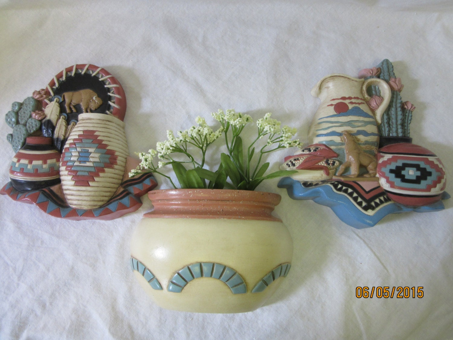 Southwestern Plaques Home Decor Wall Hangings Vintage GIA