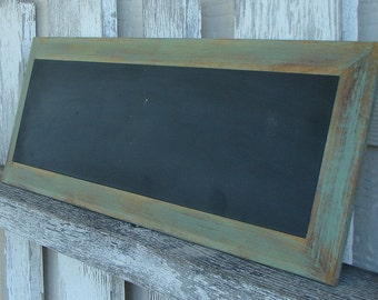 Chalkboard with green trim