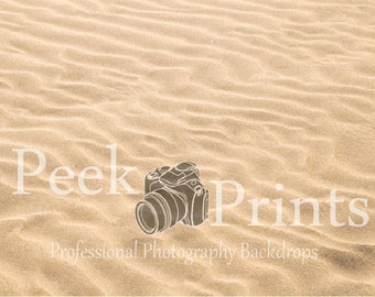 4ft.x3ft. On the Beach- Sand with Shells Vinyl Photography Backdrop- Sand Floor Drop