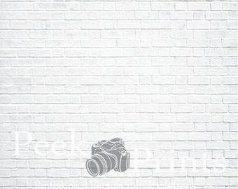 5ft.x5ft. Washed White Brick Photo Background- Photgraphy Backdrop