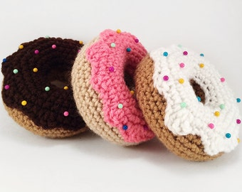 Donut Pincushion (Choose Your Color), Crocheted