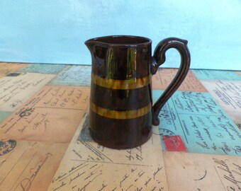 1950s Gibsons Staffordshire earthenware milk jug creamer pitcher little brown jug