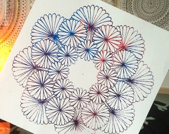 Flower Mandala Screen Print