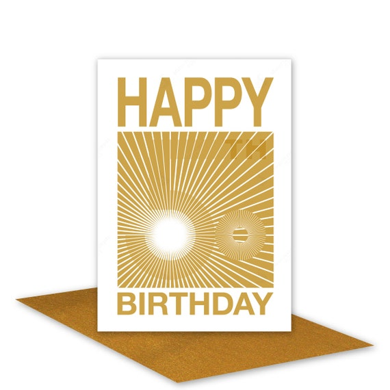 Opart 50th Happy Birthday Card For Her For Him By