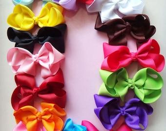 3 inch Solid Color Boutique Hair Bows Photography Prop - Choose color
