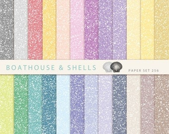 FINE PASTEL GLITTER, 24 Scrapbooking digital paper with glitter/metallic texture, printable, instant download - 256