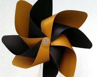 Pinwheel, Black & Gold Pinwheel