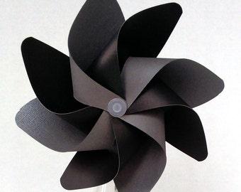 Pinwheel, Black & Silver Pinwheel